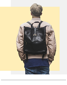 black leather backpack rucksacks london