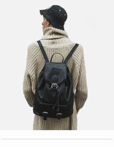 LEATHER BACKPACKS WOMENS BLACK RUCKSACKS LONDON