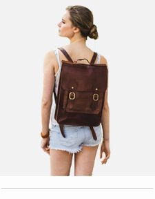 LEATHER BROWN BACKPACKS WOMENS RUCKSACKS LONDON