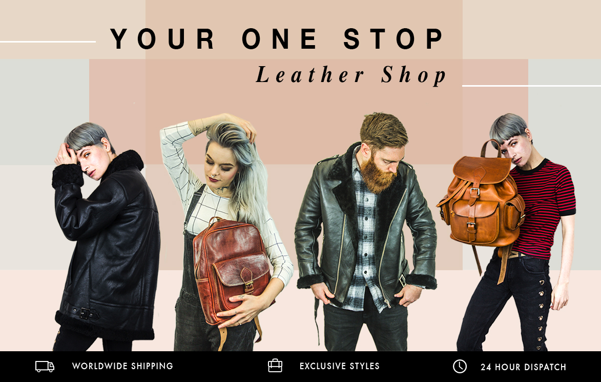 leather backpack rucksack satchel tote bags handbag duffle bag jackets shop london