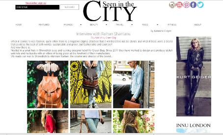 see in the city fashion magazine my green bag interview